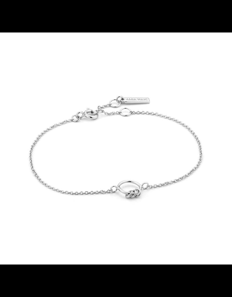 ANIA HAIE JEWELRY Ania Haie AH B002-02H Armband Chain Circle Zilver
