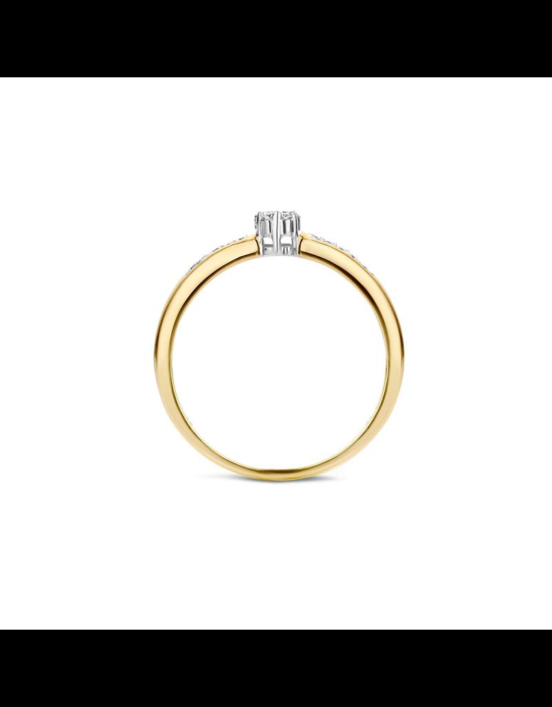 Blush Blush 1625BDI/54 Ring 14 Krt Goud bicolour met Diamant 0.12 Krt