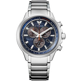 Citizen Citizen AT2470-85L Horloge Super Titanium Chrono blauw sapphire