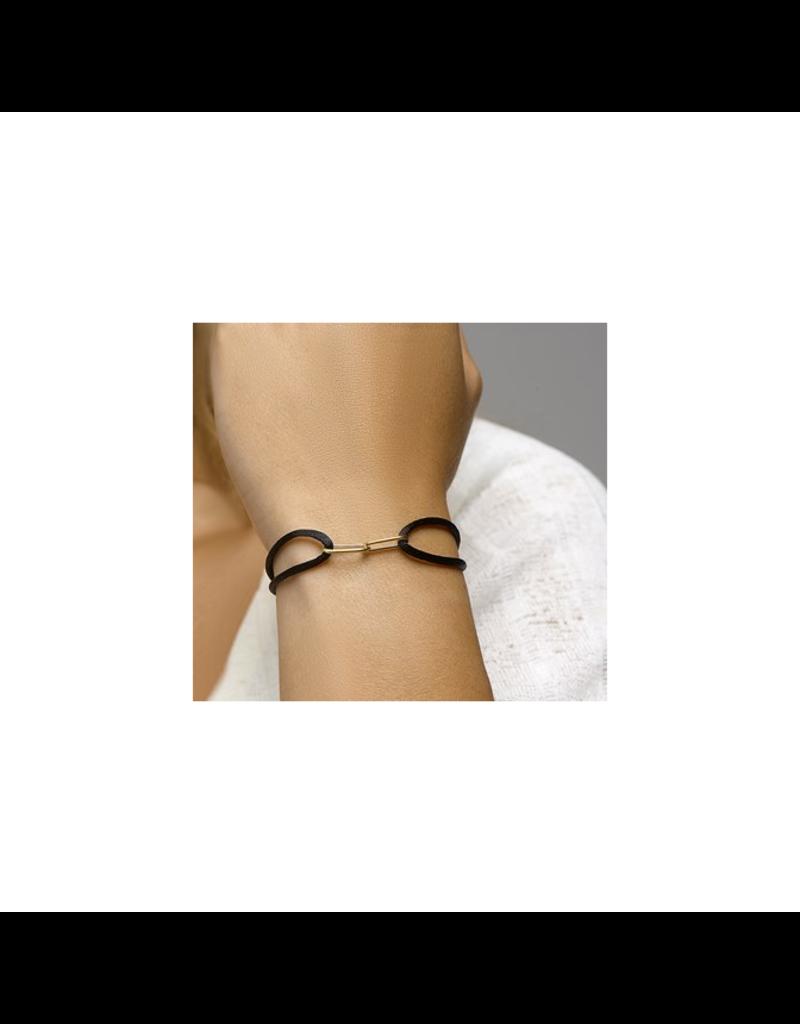 Blinckers Jewelry Huiscollectie 47.00128 - Armband satijn 14krt Goud