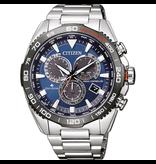 Citizen CB5034-82L Horloge heren Eco drive Radio controlled staal blauw