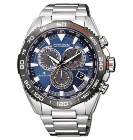 Citizen CB5034-82L Horloge heren Eco drive Radio controlled staal blauw