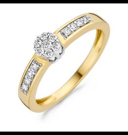 Blush 1624BDI/54 Ring 14 Krt Goud bicolour met Diamant 0.25 Krt