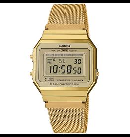 Casio A700WEMG-9AEF Horloge Dames retro gold