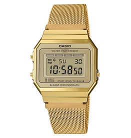 Casio Casio A700WEMG-9AEF Horloge Dames retro gold