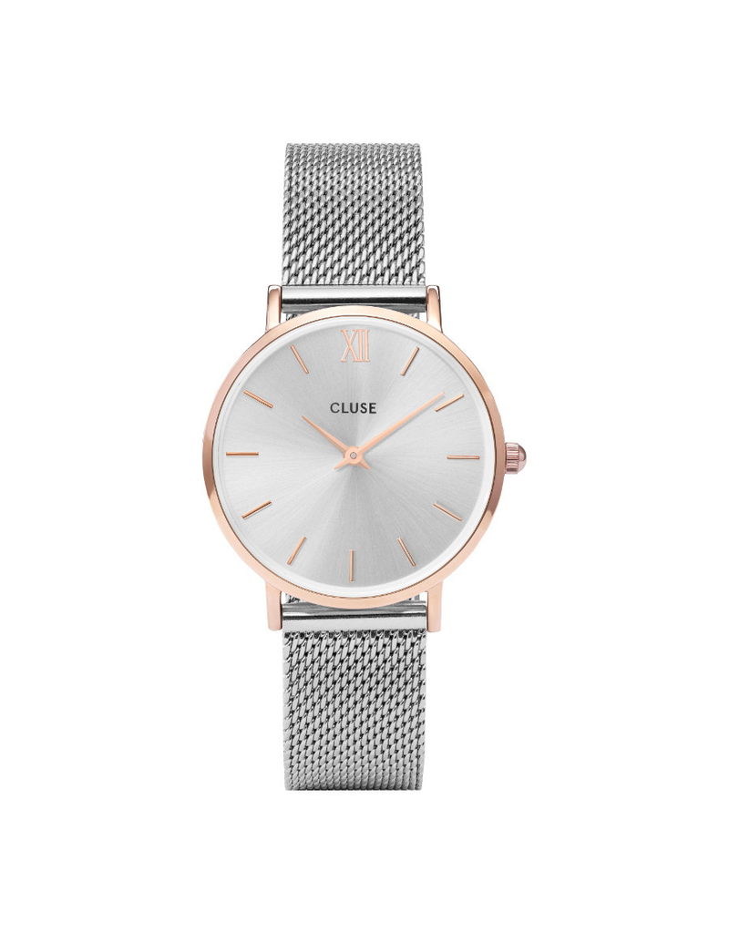 Cluse Cluse CW0101203004  Horloge Minuit Mesh Rosé Gold/Silver