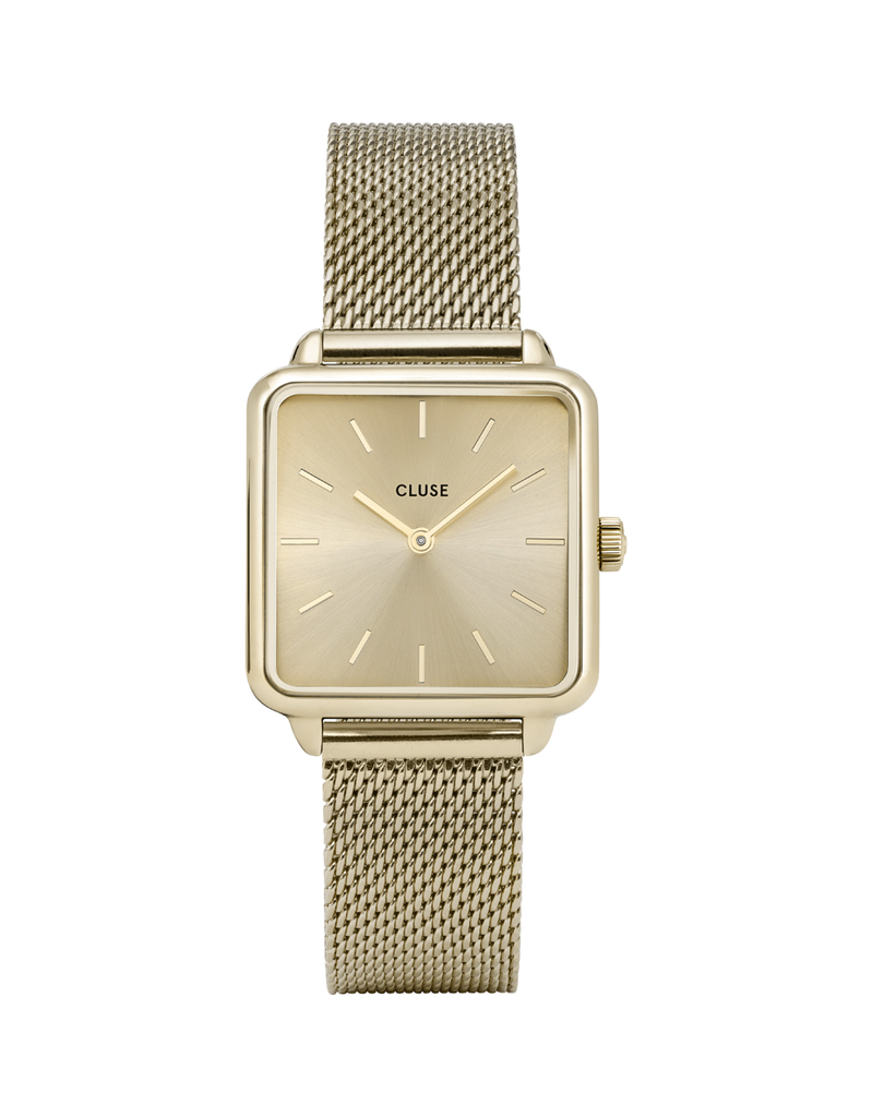 Cluse Cluse CW0101207015 dames horloge La Tétragone Mesh Gold