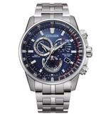 Citizen CB5880-54L heren horloge Promaster Land radio controlled staal/blauw
