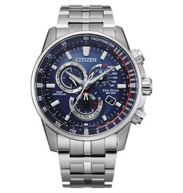 Citizen CB5880-54L heren horloge Promaster Land radio controlled staal/blauw
