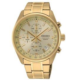 Seiko SSB382P1 heren horloge chrono staal double goud