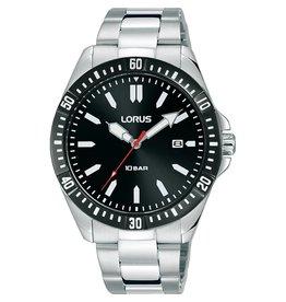 Lorus RH935MX-9  horloge heren staal zwart