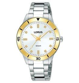 Lorus RG243RX-9 dames horloge staal bicolour met zirkonia