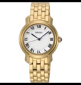 Seiko Seiko SRZ520P1 horloge dames staal goud