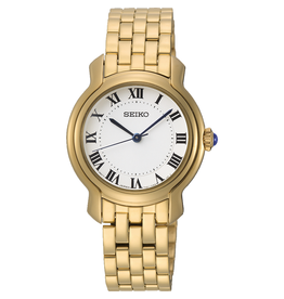 Seiko SRZ520P1 horloge dames staal goud