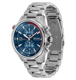 Hugo Boss Hugo Boss HB1513823 horloge heren Globetrotter staal blauw
