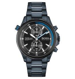 Hugo Boss Hugo Boss HB1513824 horloge heren Globetrotter staal blauw plated