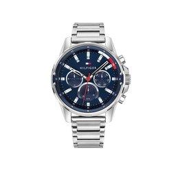 Tommy Hilfiger TH1791788 horloge heren Mason staal zilver/blauw