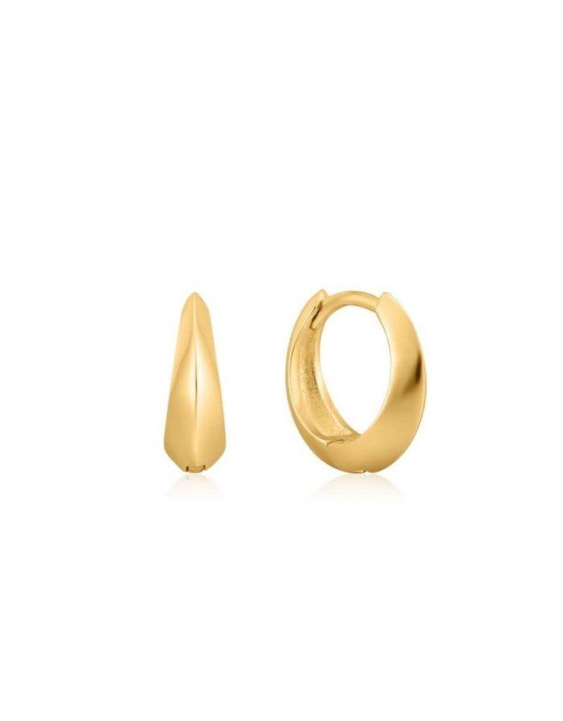 ANIA HAIE JEWELRY AH E025-05G Oorbellen spike huggie hoop zilver goudkleurig