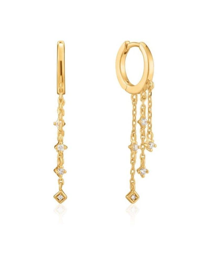 ANIA HAIE JEWELRY AH E023-02G Oorbellen sparkle cascade huggie hoops Gold
