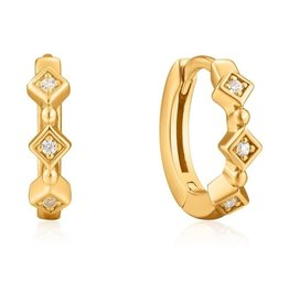 ANIA HAIE JEWELRY AH E023-01G Oorbellen Sparkle huggie hoops gold