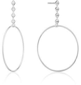 ANIA HAIE JEWELRY AH E025-04H Oorbellen silver spike hoop zilver