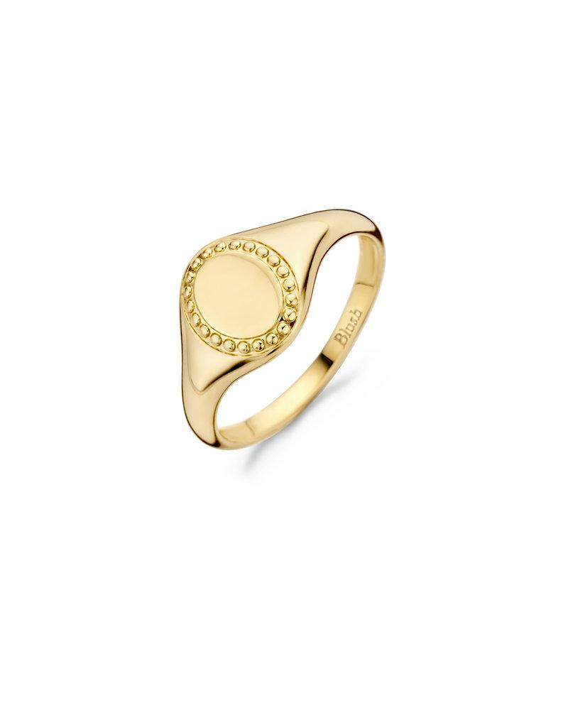 Blush 1206YGO/50 Zegelring goud 14 Krt Mt 50
