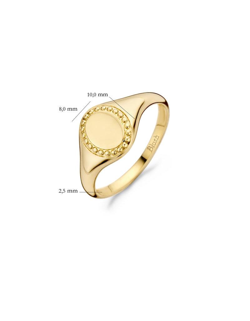 Blush Blush 1206YGO/50 Zegelring goud 14 Krt Mt 50
