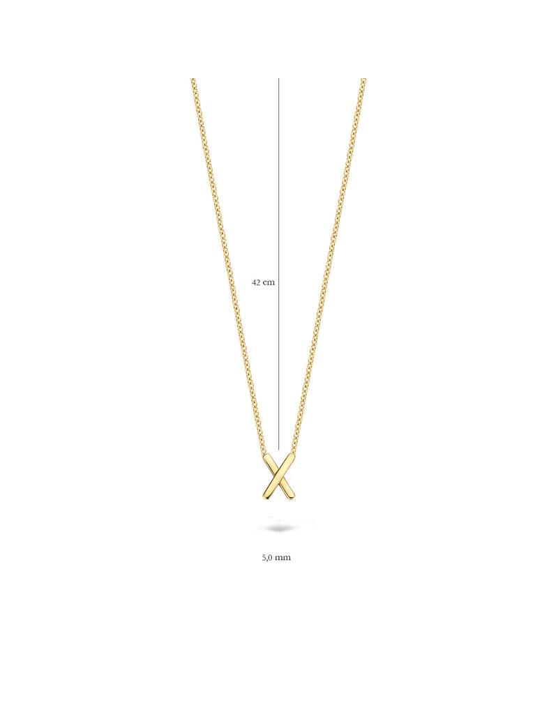 Blush Blush 3094YGO Ketting met bedel 14 Krt goud
