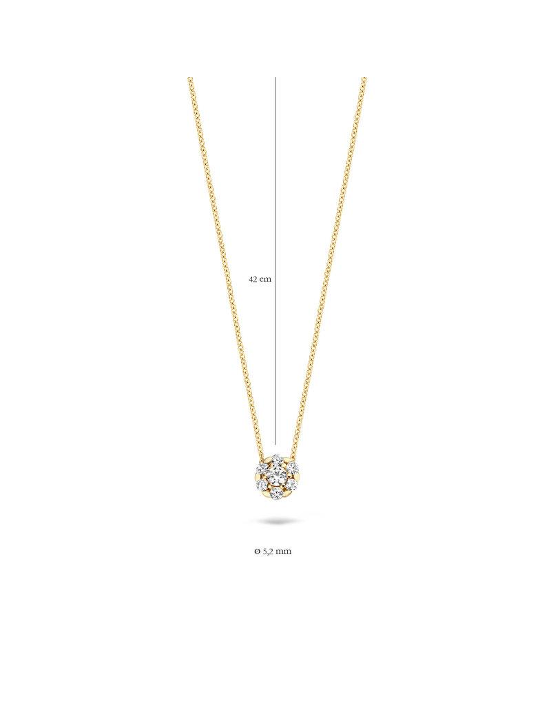 Blush 3097YZI  Ketting met bedel 14 Krt goud met zirkonia