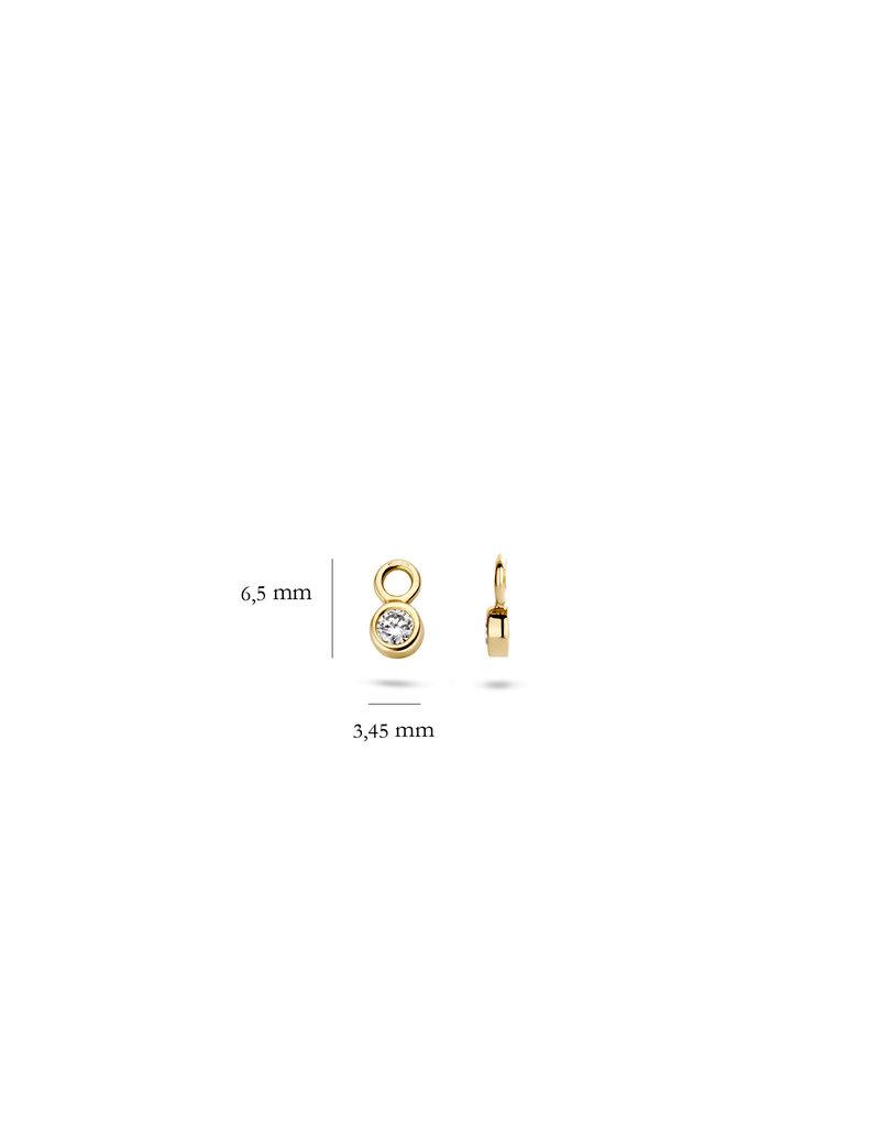 Blush 9058YZI Oorbedels 14 Krt goud met zirkonia
