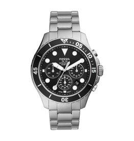 Fossil Fossil FS5725 Horloge heren chrono staal zwart