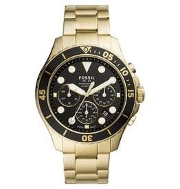 Fossil Fossil FS5727 Horloge heren chrono staal goud zwart