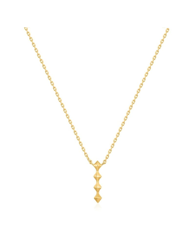 ANIA HAIE JEWELRY AH N025-01G zilver collier Gold spike drop