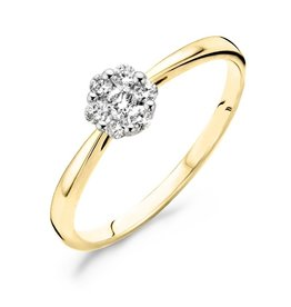 Blush 1612BDI/54 Ring 14 Krt Goud met Diamant 0.20Crt