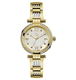 GC GC Y56004L1MF horloge dames staal gold cable