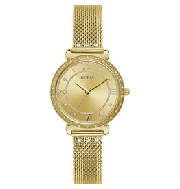 Guess Guess W1289L2  horloge dames staal gold mesh