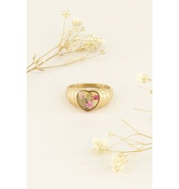My Jewellery Ring Wildflower Hart - Goud