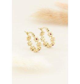 My Jewellery MJ041181200 Oorringen bloemetjes met steentjes klein