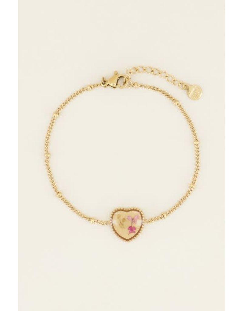 My Jewellery MJ037921200 Armband wildflower hartje