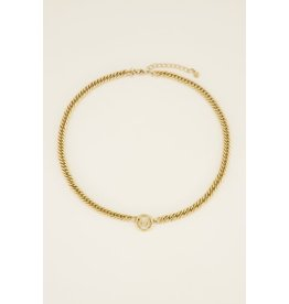 My Jewellery MJ036761200L  Ketting chunky initials L