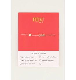 My Jewellery Armband Love + Hart