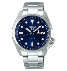Seiko SRPE53K1 horloge  5Sports Automatic staal blauw