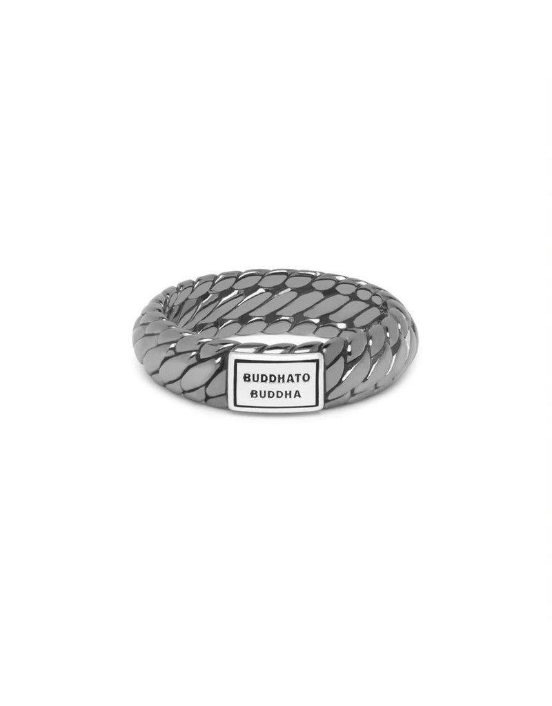 Buddha to Buddha 125BR SS 17  Ben XS Ring Black Rhodium Shine Silver