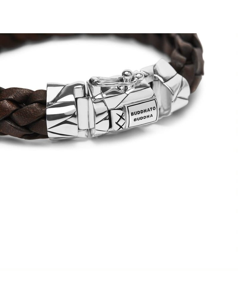 Buddha to Buddha 127BR F  Mangky  Leather Bracelet Brown