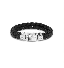 Buddha to Buddha 127BL G  Mangky  Leather Bracelet Black
