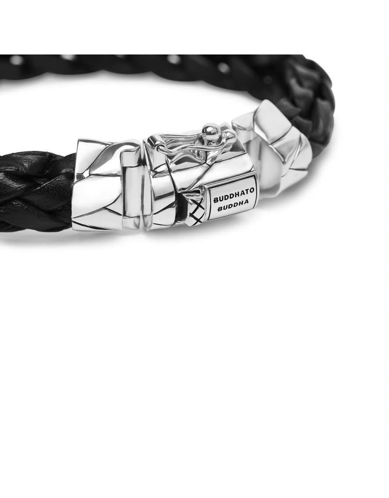 Buddha to Buddha 127BL G  Mangky  Leather Bracelet Black