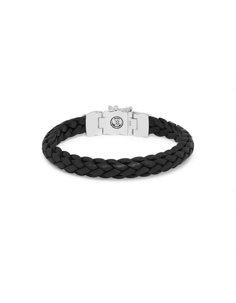 Buddha to Buddha 126BL F  Mangky Small Leather Bracelet Black