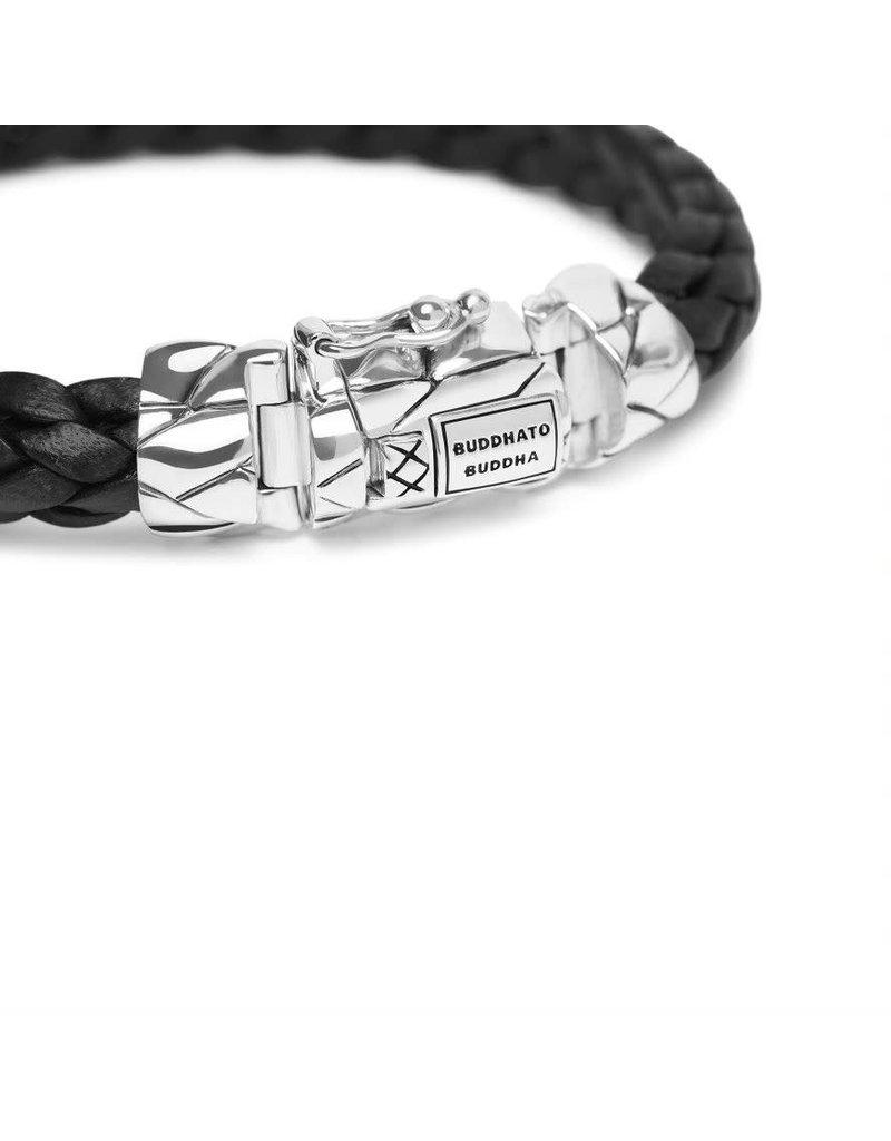 Buddha to Buddha 126BL E  Mangky Small Leather Bracelet Black