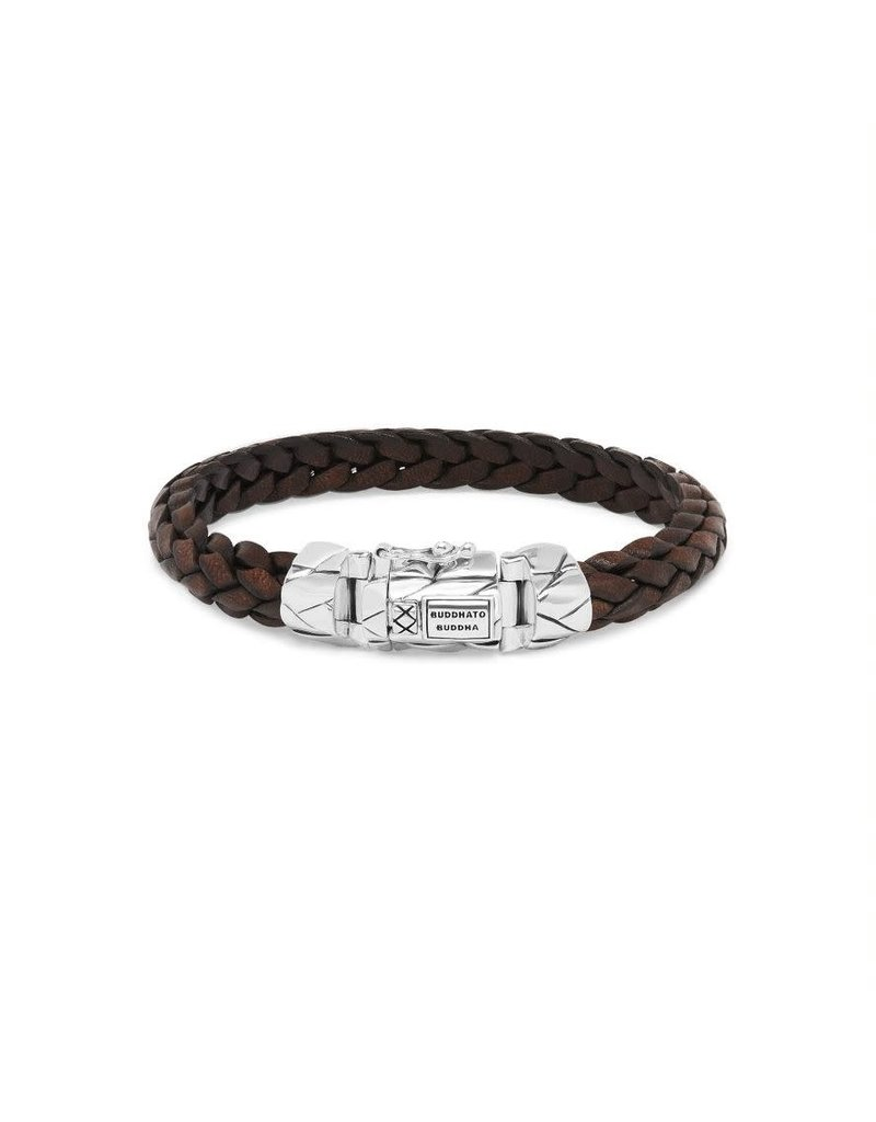 Buddha to Buddha 126BR E  Mangky Small Leather Bracelet Brown