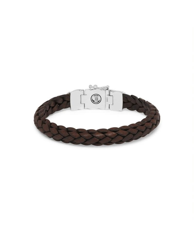 Buddha to Buddha 126BR F  Mangky Small Leather Bracelet Brown